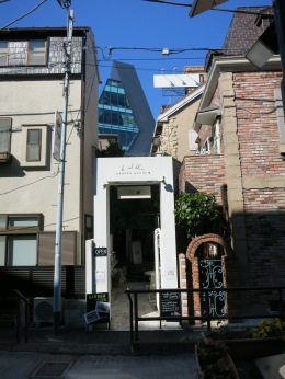 Typical architecture in Harajuku: Big, small, old and new melt togheter.