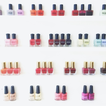 Better than a minibar: The pretty polishes at Olive & June.