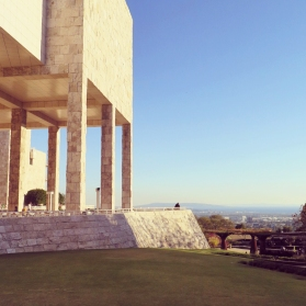 Nice view - the Getty park and it's architecture.