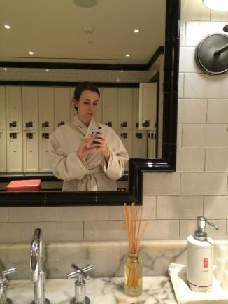 A selfie at Elizabeth Arden at Union Square