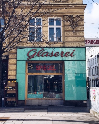 This is just a typical shop in Vienna.