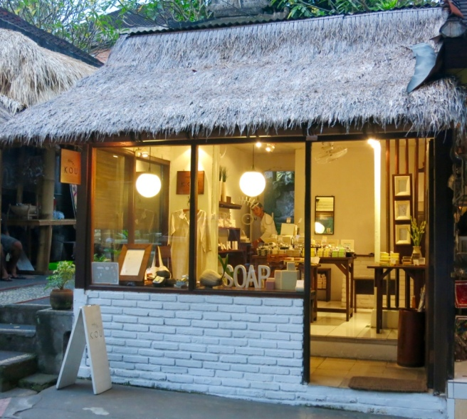 The cute Kou shop in Ubud