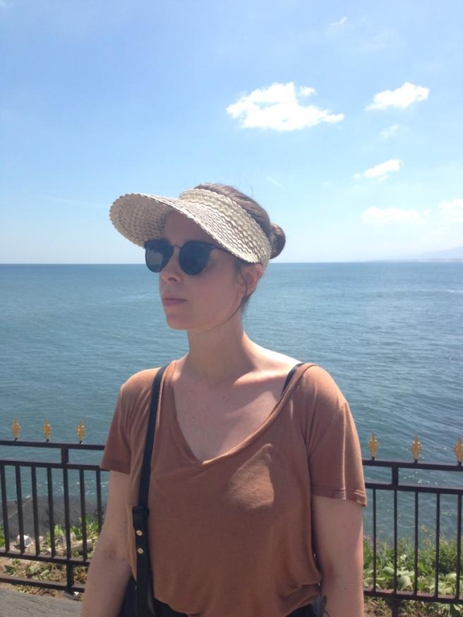 Woven visor bought on Bali
