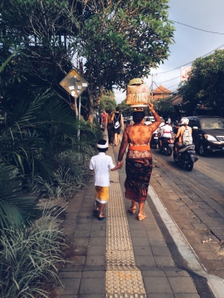 Off to a ceremony in Ubud