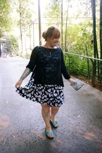 My sister dressed to impress (the pandas)
