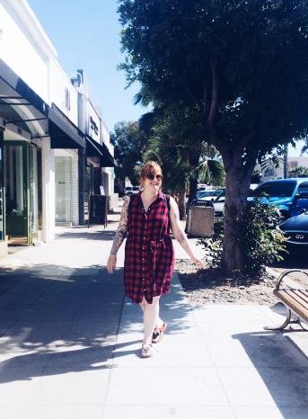 My sister doing it her way in La Jolla